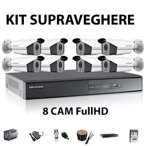 Kit supraveghere 8 camere FullHD cu IR-40m